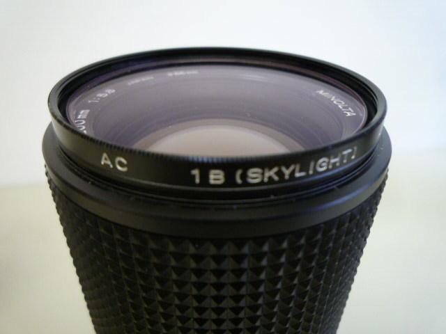 【お買い得】★MINOLTA/ミノルタ★望遠レンズ MD ZOOM 100-200mm 1:5.6 AC1B(SKYLIGHT)55mmスカイライトフィルター、レンズフードセット_画像3