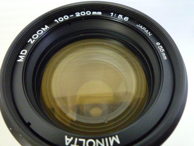 【お買い得】★MINOLTA/ミノルタ★望遠レンズ MD ZOOM 100-200mm 1:5.6 AC1B(SKYLIGHT)55mmスカイライトフィルター、レンズフードセット_画像2