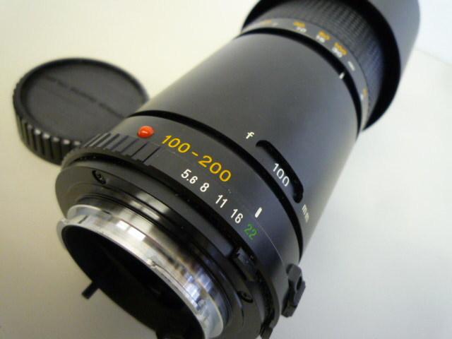 【お買い得】★MINOLTA/ミノルタ★望遠レンズ MD ZOOM 100-200mm 1:5.6 AC1B(SKYLIGHT)55mmスカイライトフィルター、レンズフードセット_画像4