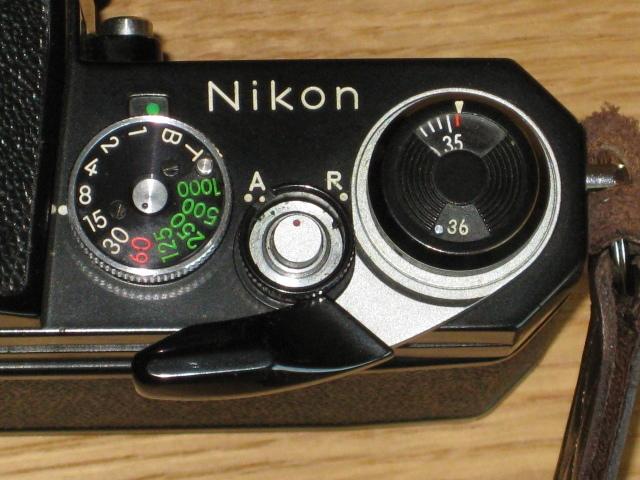 ニコンNewFブラック美品+AF NIKKOR35mm付き難あり NIKON F BLACK_画像3