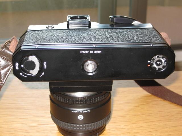 ニコンNewFブラック美品+AF NIKKOR35mm付き難あり NIKON F BLACK_画像9