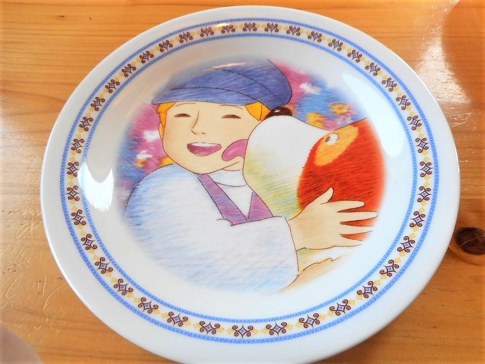 ♪☆【非売品/新品】☆世界名作劇場 フランダースの犬 プレート 皿 絵皿 B0049_画像1