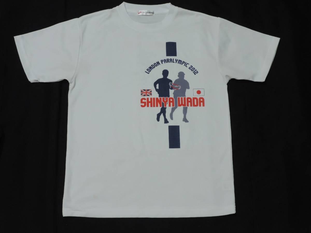 ☆メンズ☆ロンドンパラリンピック2012バック常勝プリント半袖Tシャツ☆Mサイズ_画像1