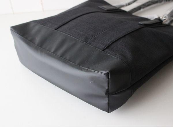 新品タケオキクチTAKEO KIKUCHI持ち手 牛革レザー シャークスキン トートバッグ ビジネスバッグ メンズ_画像5