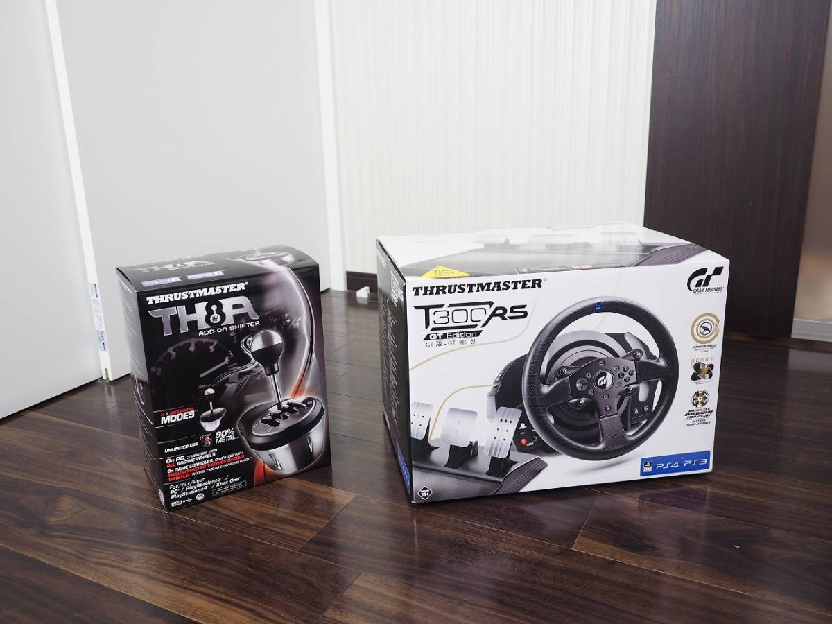used ] Thrustmaster T300RS GT Edition + TH8A 2 point set