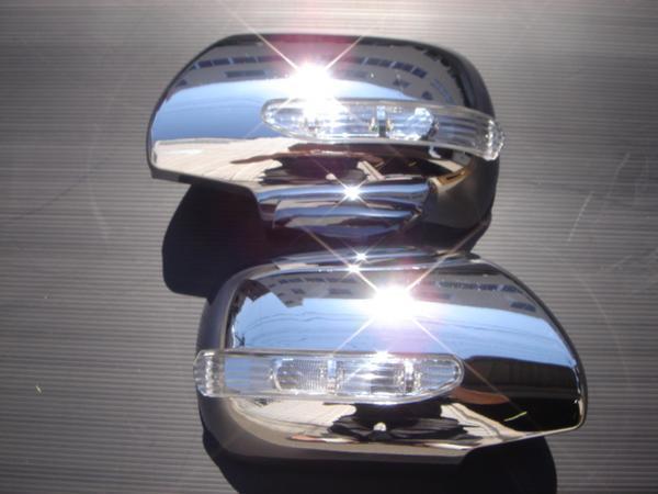 クロームメッキ LED ドアミラー サイドミラー カバー パネル トヨタ  ハイラックスサーフ 210系 215系 サーフ_画像1