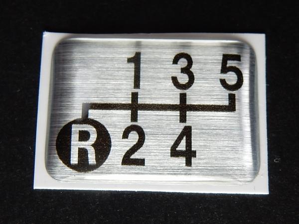 Tuningfan シフトパターン エンブレム 左下R 5速MT車用 5MT ブルーテック キャンター 三菱ふそう ステッカー プレート バッジ 日本製_画像3