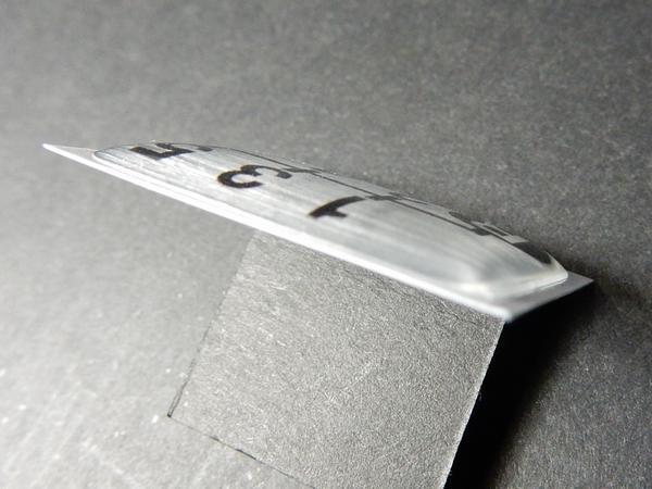 Tuningfan シフトパターン エンブレム 左下R 5速MT車用 5MT ブルーテック キャンター 三菱ふそう ステッカー プレート バッジ 日本製_画像4