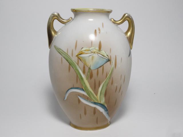 NORITAKE ノリタケ 花瓶 M-NIPPON印 1910年-1921年頃 中古 N193_画像3