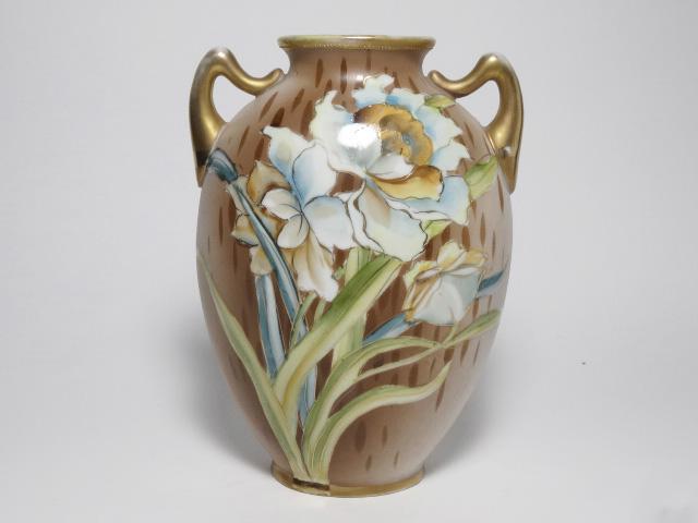 NORITAKE ノリタケ 花瓶 M-NIPPON印 1910年-1921年頃 中古 N193_画像1