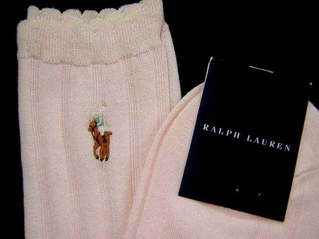 タグ付き・未使用◆ラルフローレン/靴下ソックス23cm1,050円ピンク_画像5
