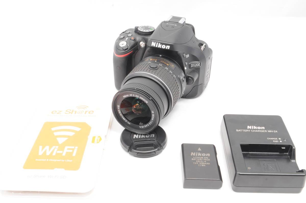 wifi sd 8G 新品級 NIKON ニコン D5200 18-55mm 3.5-5.6G G II VR 手振れ補正!_画像1