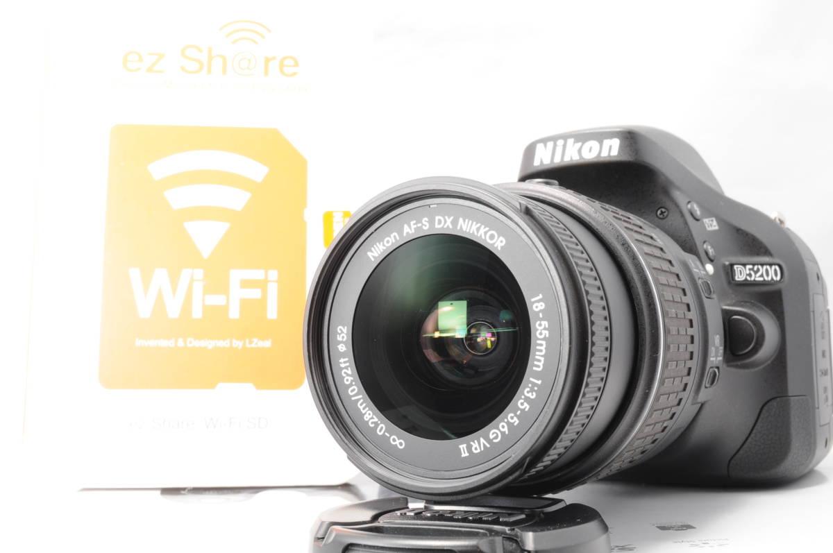 wifi sd 8G 新品級 NIKON ニコン D5200 18-55mm 3.5-5.6G G II VR 手振れ補正!_画像6