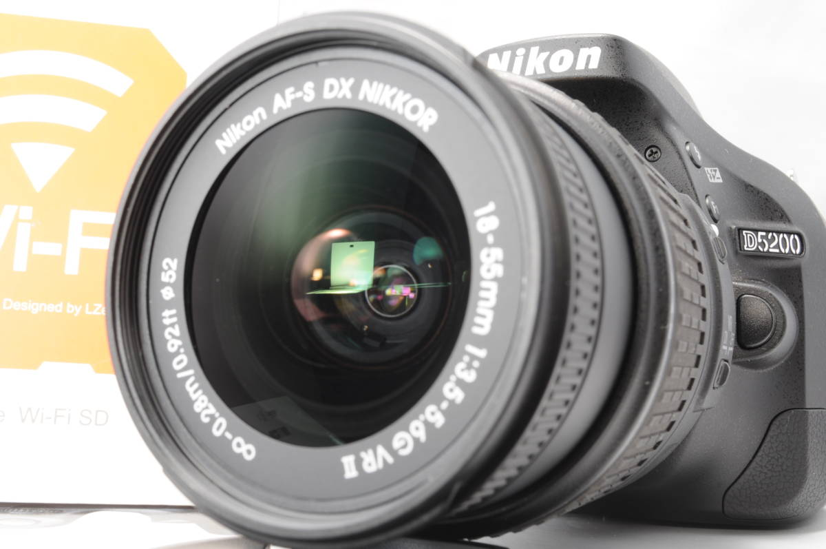 wifi sd 8G 新品級 NIKON ニコン D5200 18-55mm 3.5-5.6G G II VR 手振れ補正!_画像7