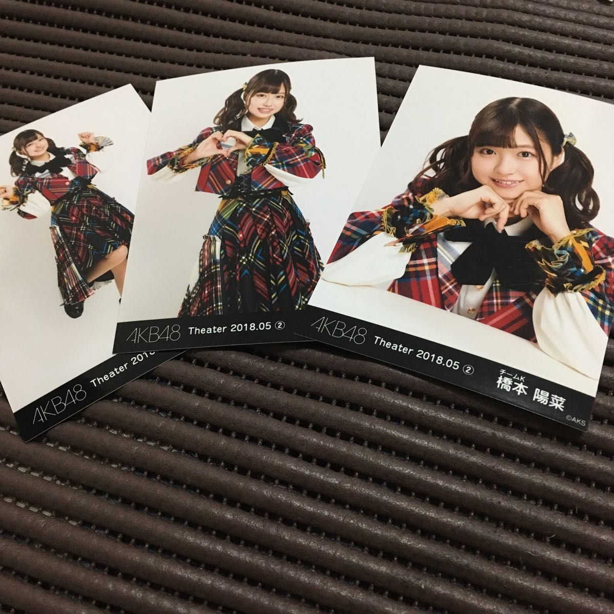 AKB48 月別生写真 2018 5月 MAY ② 3種 コンプ 橋本陽菜