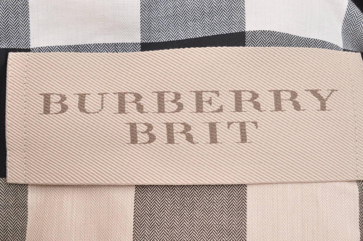N070 新品 正規 BURBERRY BRIT バーバリー ブリット トレンチコート アウター コットンギャバジン ベージュ US02 XSサイズ_画像3