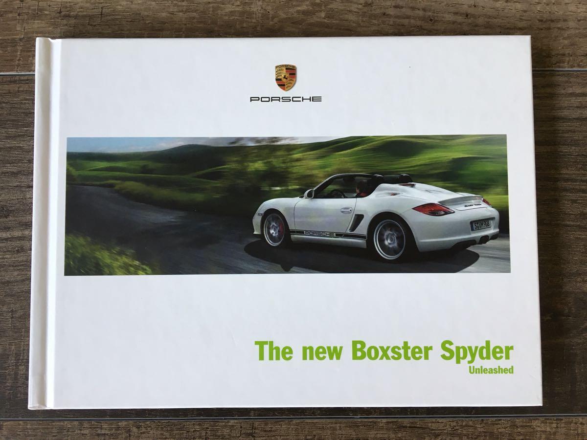 激レア ポルシェ PORSCHE Boxster Spyder ボクスター スパイダー カタログ(日本正規版)