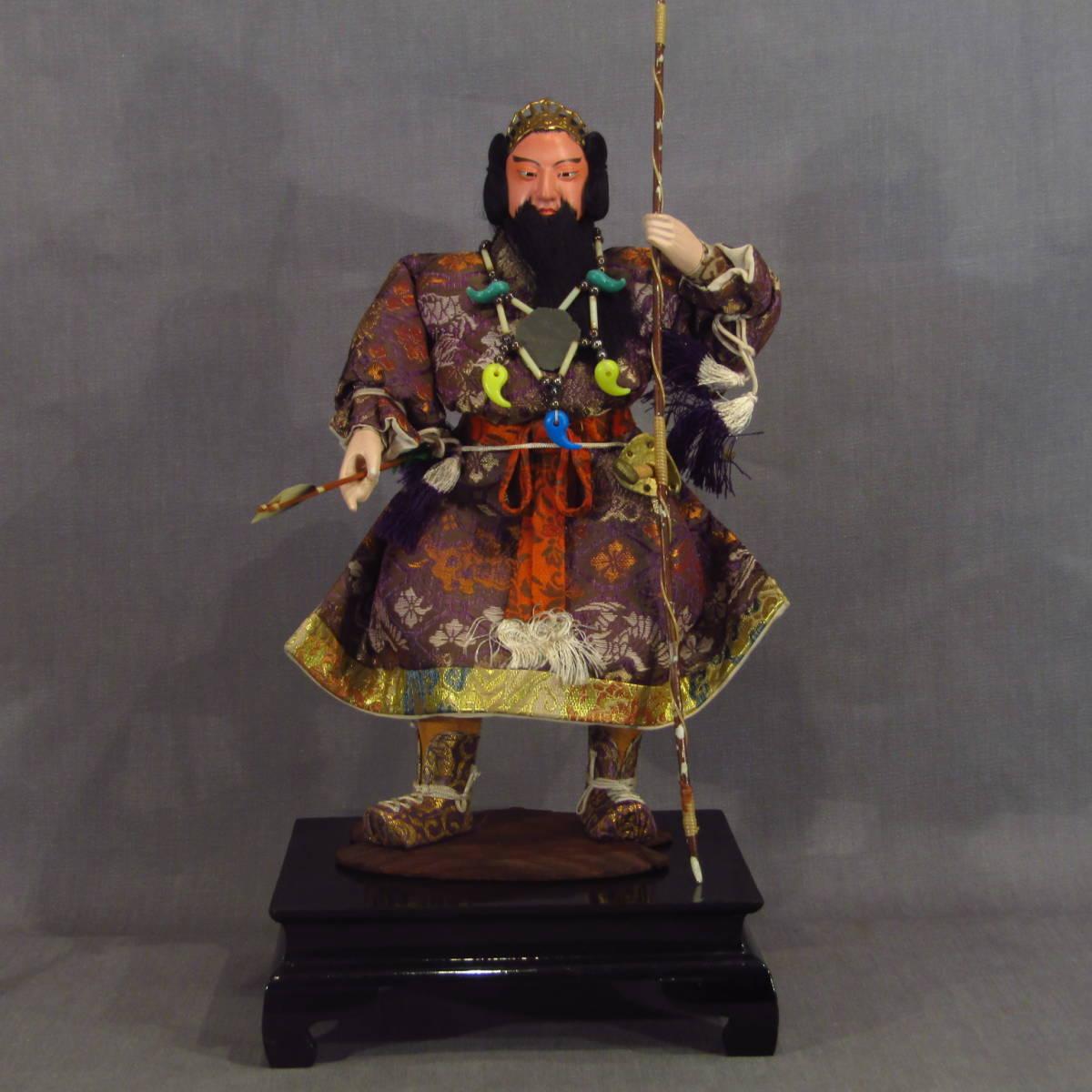名称不明 天皇 神話 五月人形 五月飾り 木目込み人形 季節もの 日本人形 子どもの日 端午の節句 伝統工芸 久月 和物 アンテ