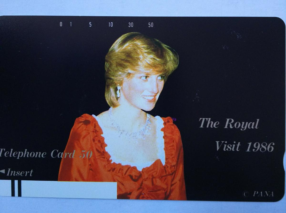 英王室 皇室 チャールズ皇太子 & ダイアナ妃 ロイヤルウエディング 記念 テレホンカード 50度5枚セット / ヘンリー王子 メーガン妃_画像3