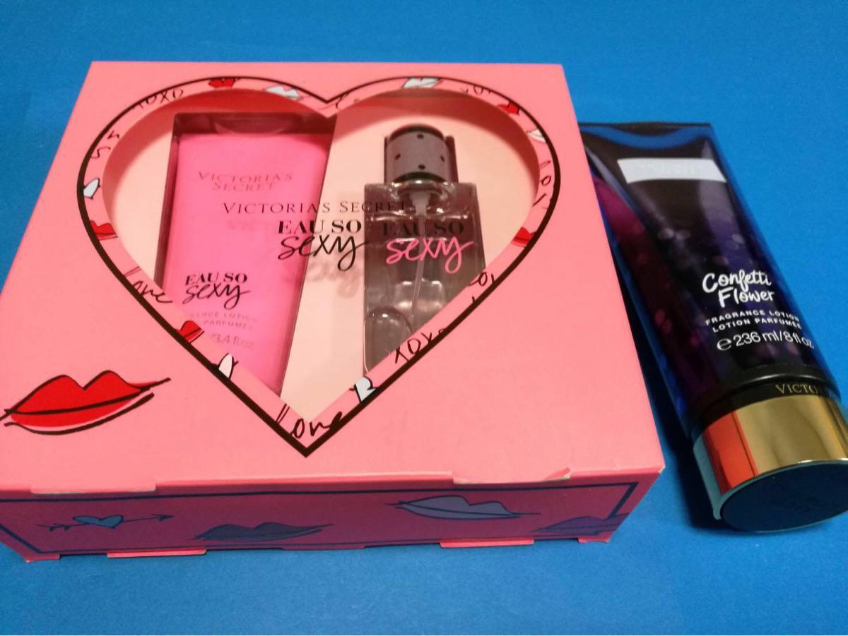 37bafcfef60 victoria s secret Victoria Secret Eau so Sexy fragrance lotion confetti  flower puff .-m unused
