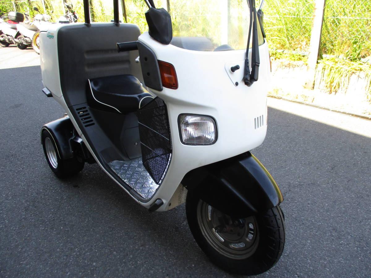 1スタ 東京発 ジャイロキャノピー50 TA02 2スト後期型 公認ミニカー登録 GYRO Canopy 純正グリップヒーター付_画像4