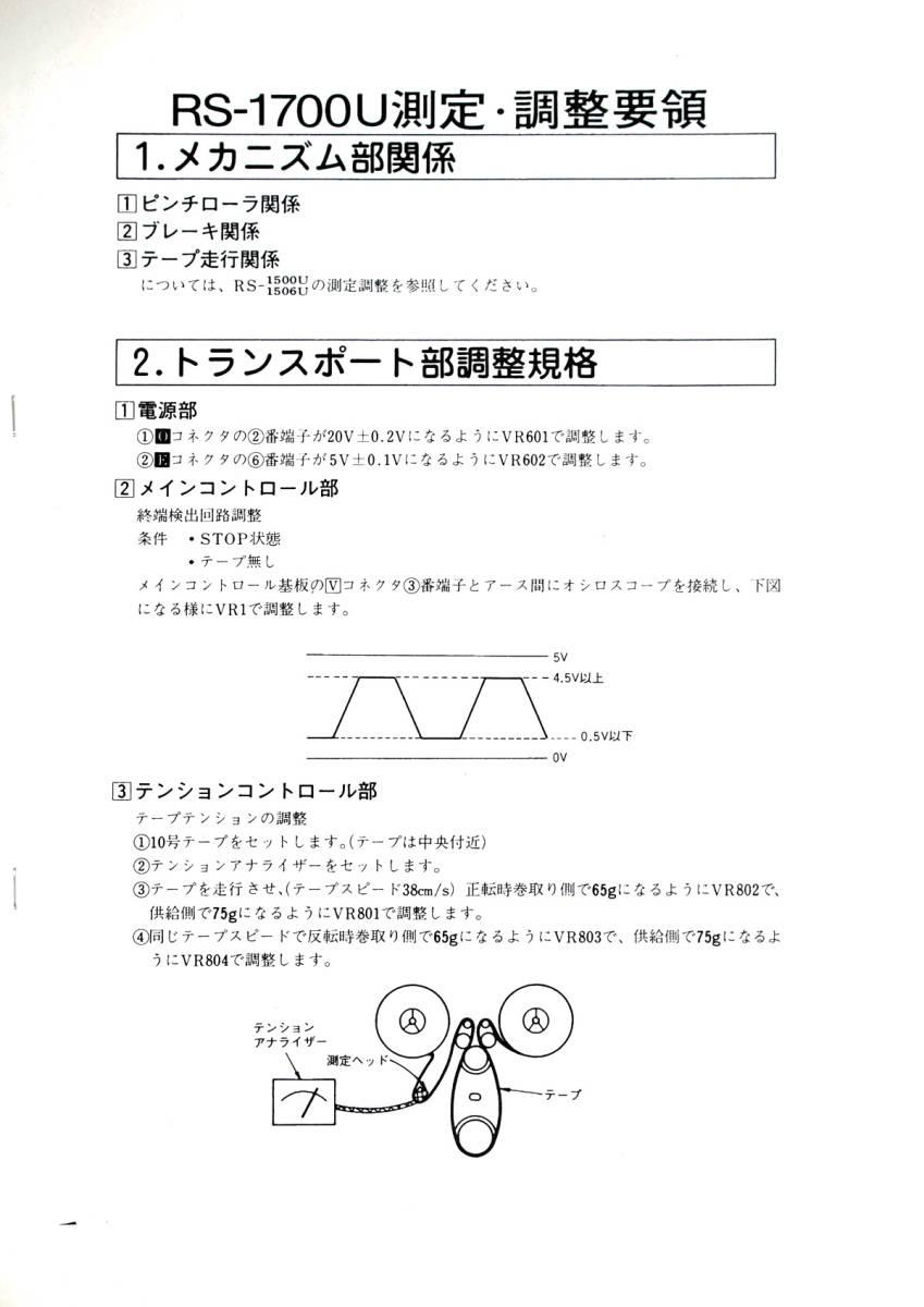 ■ Technics RS-1700U テクニカルガイド ■_画像6