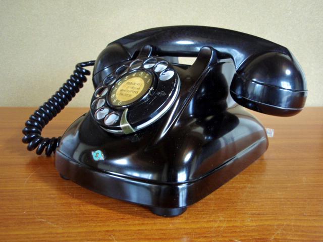 ●昭和の4号黒電話●整備済み 光回線可/モジュラーケーブル延長可(アダプター付き) 昭和35年_画像5