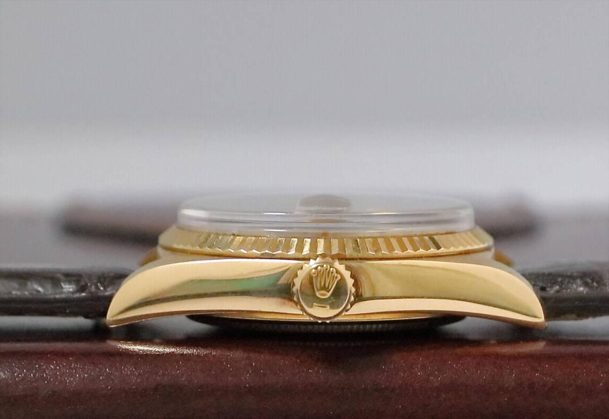 美品 ROLEX デイデイト 1803A K18YG 10P ダイヤ シャンパン 日ロレOH見積もり 専門店OH済み_画像8