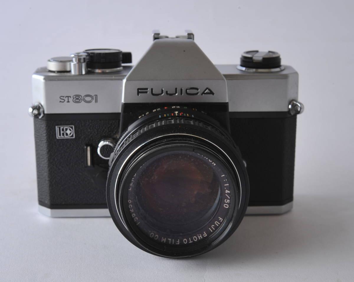 フジカ FUJICA ST801 FUJINON 1.4/50 ボディー、レンズセット ジャンク_画像2