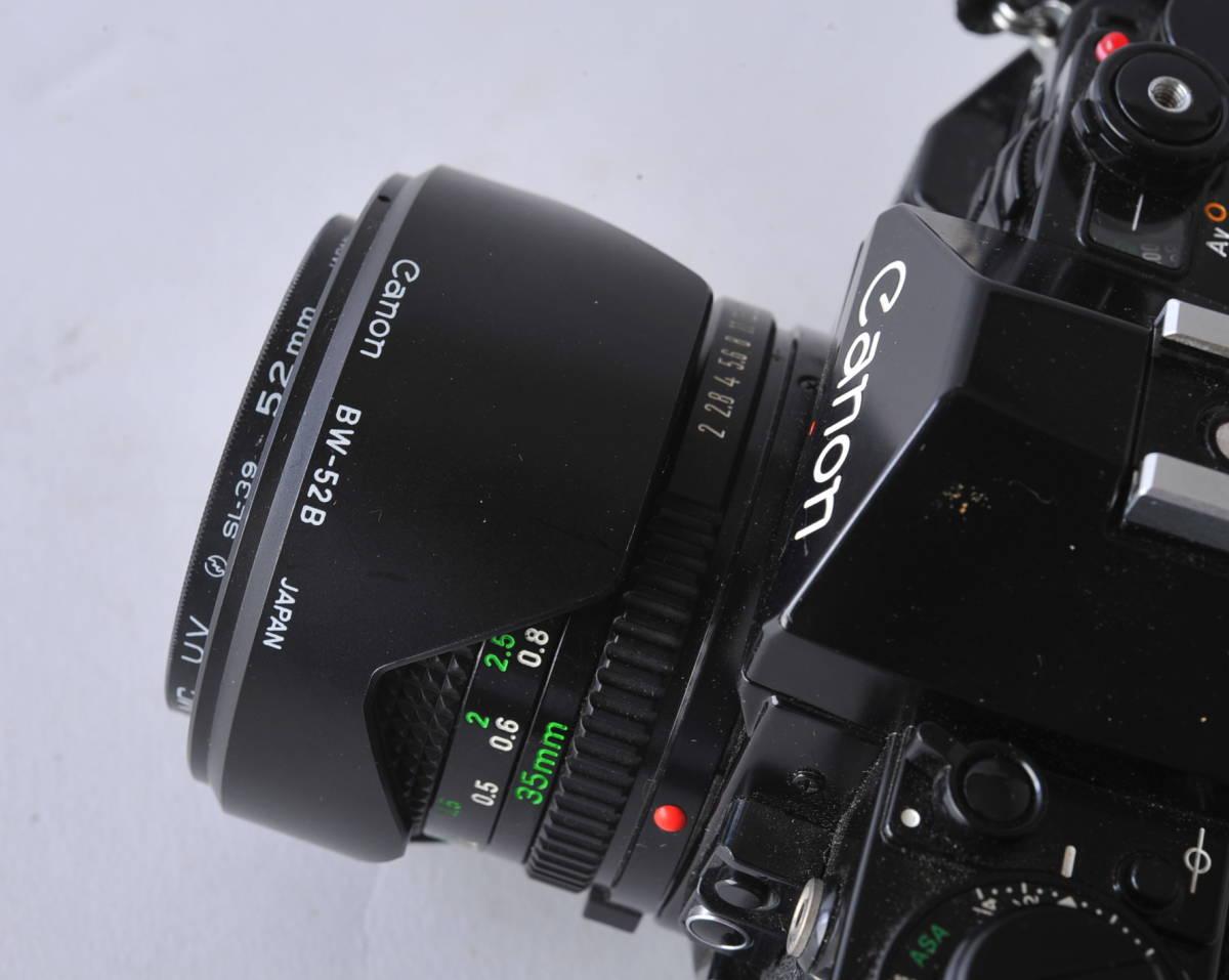 キャノン Canon A-1 ボディー、レンズ 3本セット 35/2、35-105 3.5-4.3、35/2.5_画像5