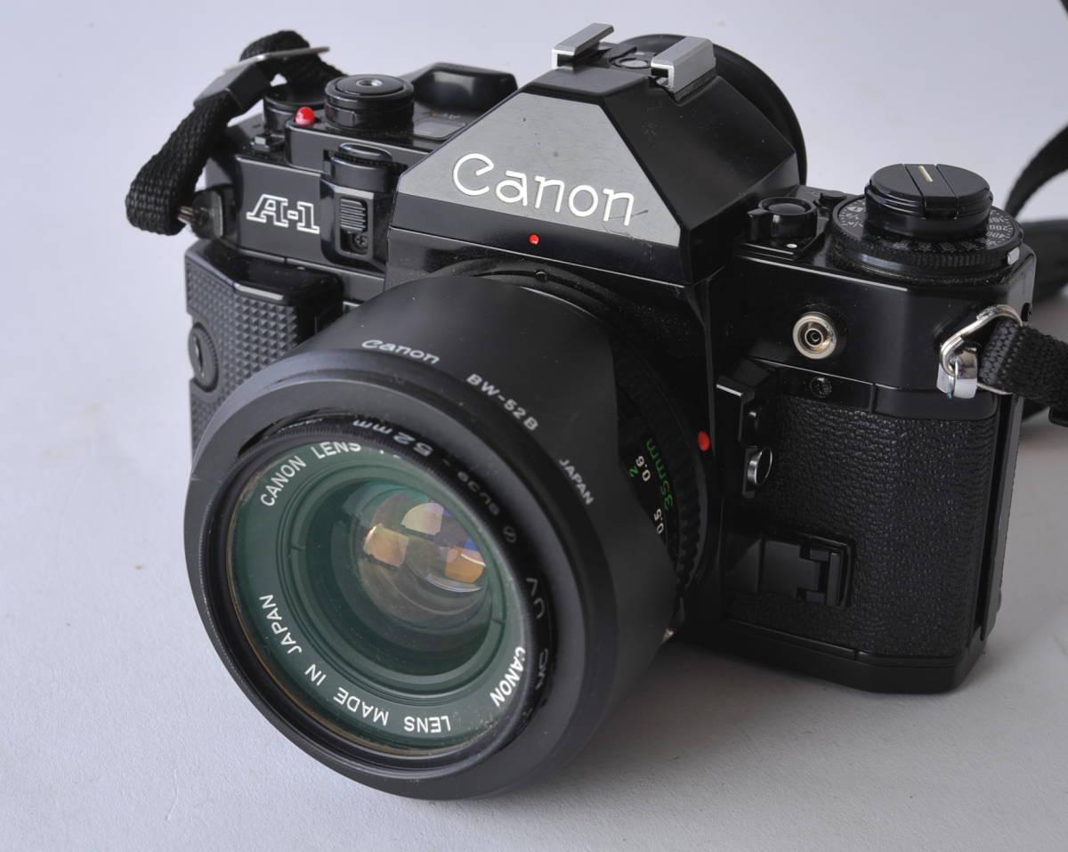 キャノン Canon A-1 ボディー、レンズ 3本セット 35/2、35-105 3.5-4.3、35/2.5_画像2