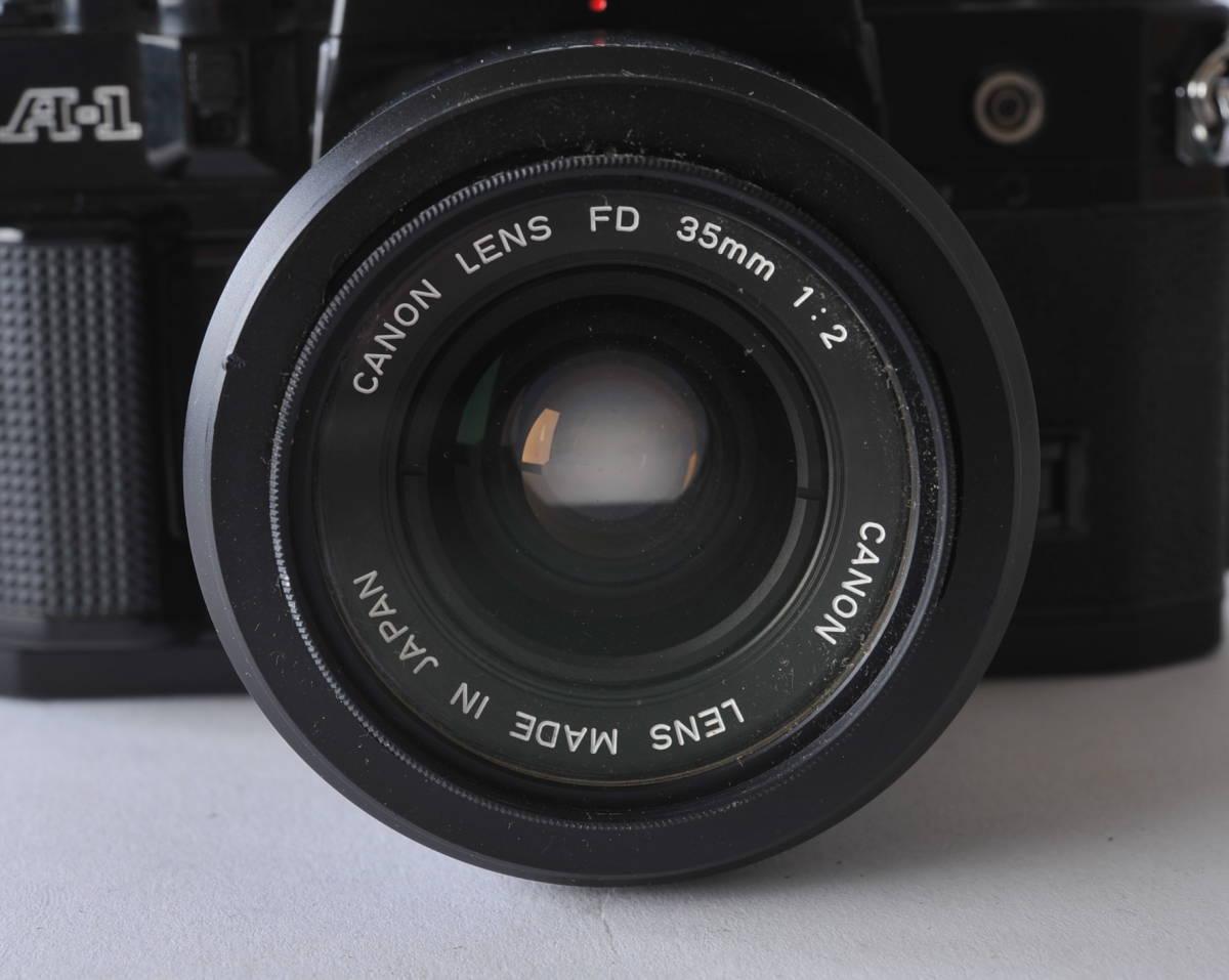 キャノン Canon A-1 ボディー、レンズ 3本セット 35/2、35-105 3.5-4.3、35/2.5_画像3