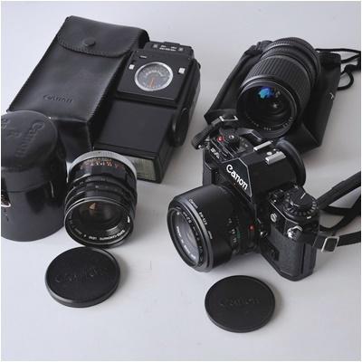 キャノン Canon A-1 ボディー、レンズ 3本セット 35/2、35-105 3.5-4.3、35/2.5