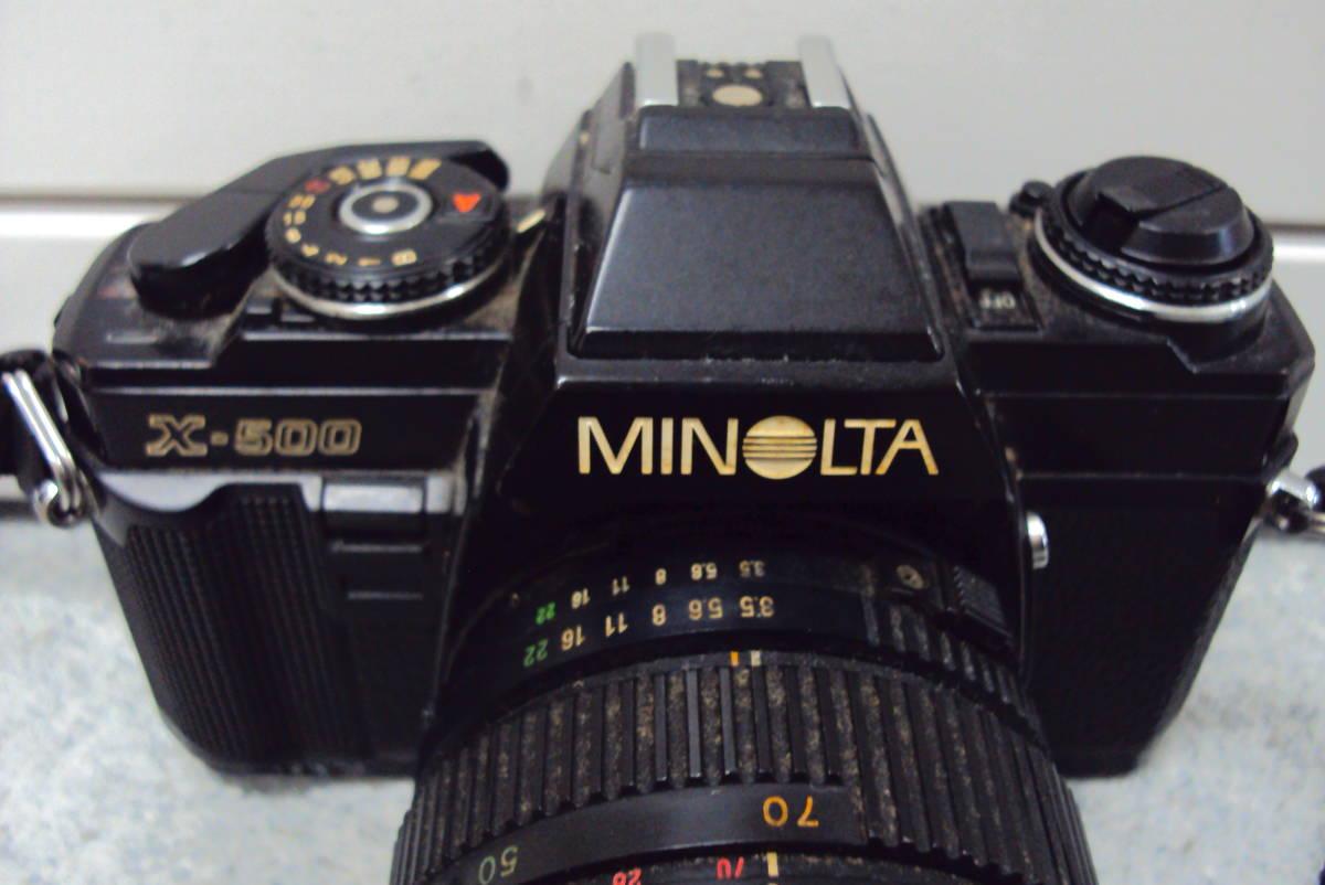 □ ミノルタ MINOLTA X-500 TOKINA 28-70㎜ 1:3.5-4.5 レンズ ジャンク品扱い 激安1円スタート□_画像2