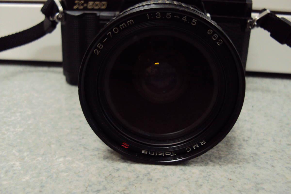 □ ミノルタ MINOLTA X-500 TOKINA 28-70㎜ 1:3.5-4.5 レンズ ジャンク品扱い 激安1円スタート□_画像3