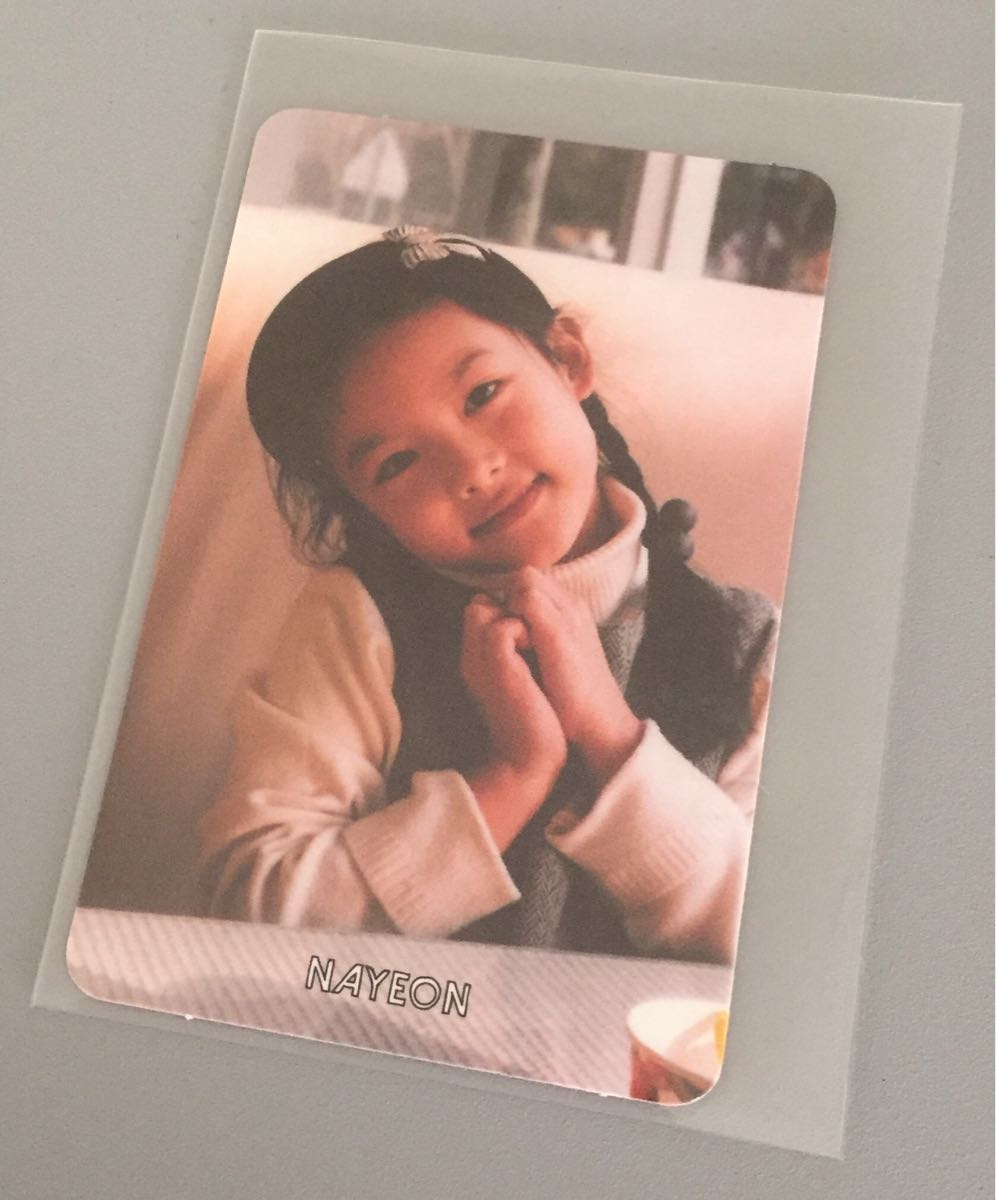 TWICE THE STORY BEGINS album   go in trading card card nayonNAYEON