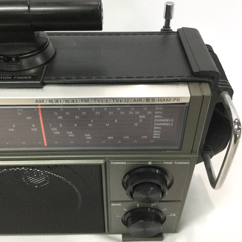 【ジャンク】AM/FM受信確認済み Rajisan ラジサン 10バンド ラジオ MK-59 マルチバンド AM FM 航空無線 短波 アンティークラジオ レトロ_画像5