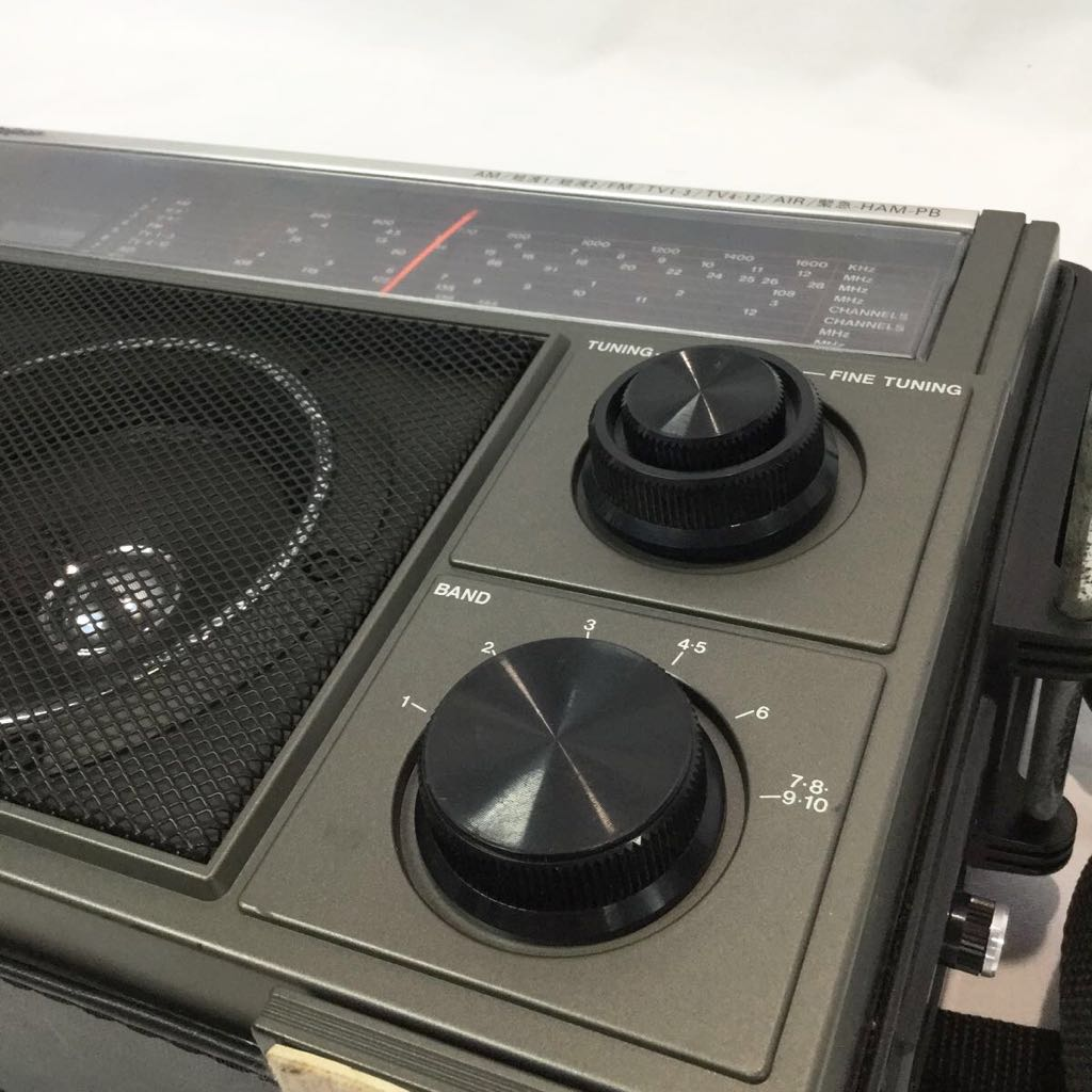 【ジャンク】AM/FM受信確認済み Rajisan ラジサン 10バンド ラジオ MK-59 マルチバンド AM FM 航空無線 短波 アンティークラジオ レトロ_画像7