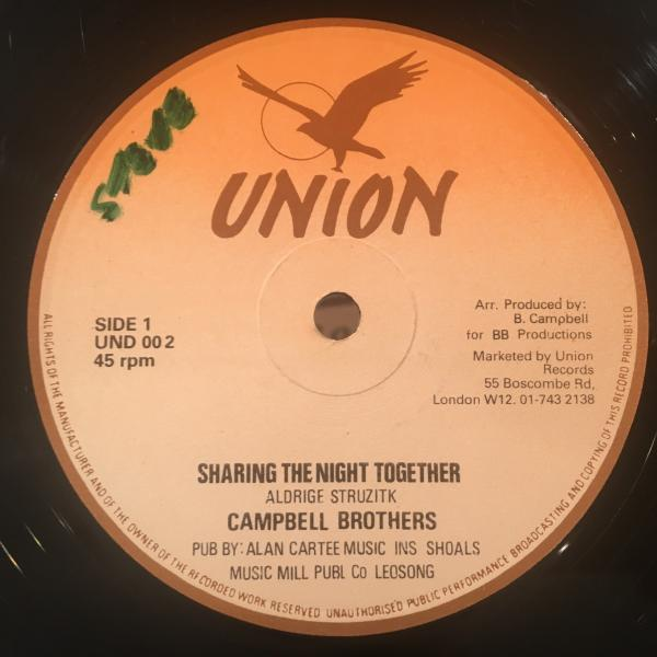 ★Campbell Brothers/Sharing The Night Together★メロウLOVERS ROCK名曲!