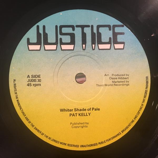 ★Pat Kelly/Whiter Shade Of Pale★名曲カバーLOVERS ROCK!