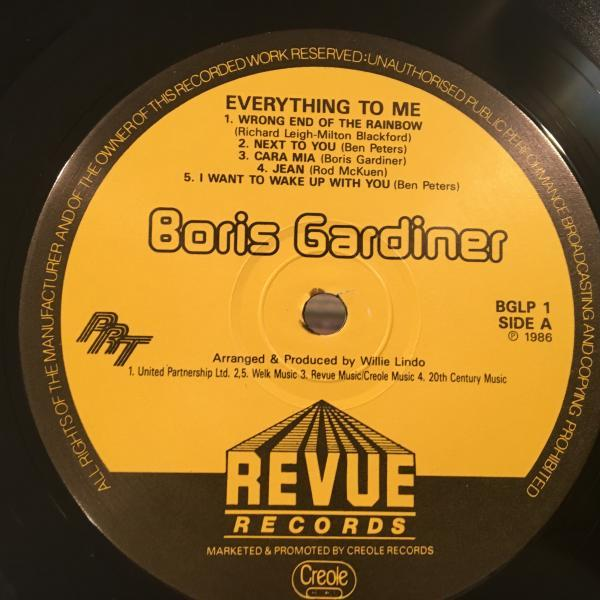 ★Boris Gardiner/Everything To Me★LOVERS ROCK名作LP_画像2