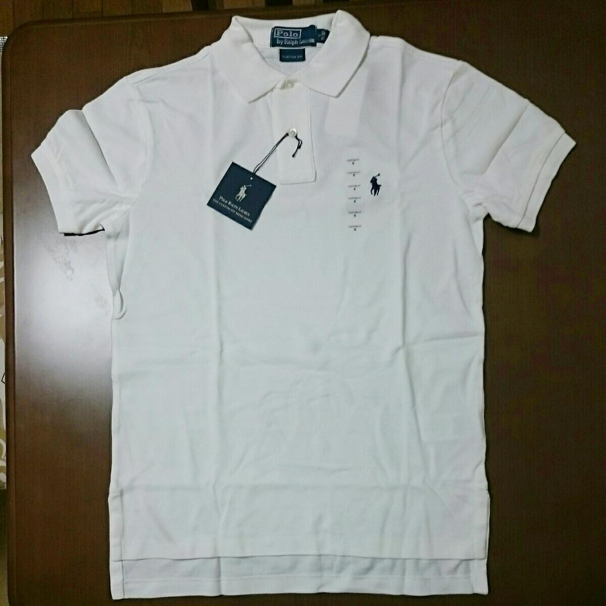 【新品】ポロラルフローレン半袖ポロシャツS 国内M位 ホワイト