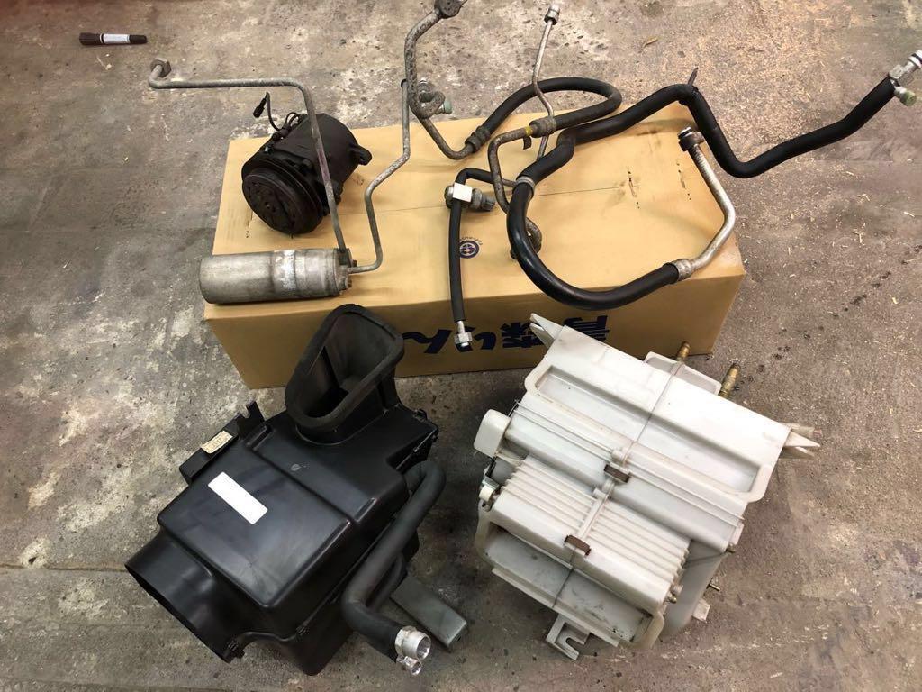 カプチーノ EA11R エアコン R134 コンプレッサー エバポレーター パイプ 配管