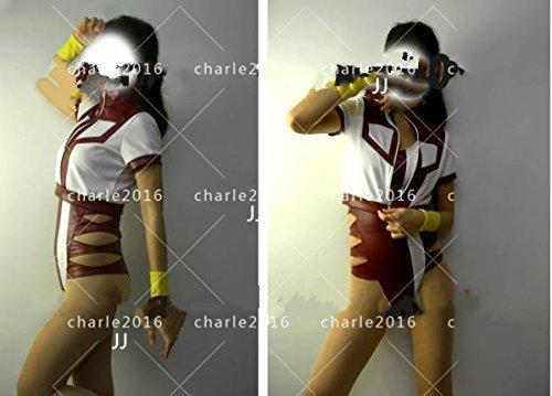コスプレ衣装 くトップをねらえ!★レオタード・体操服(レザー)風 全セット_画像3
