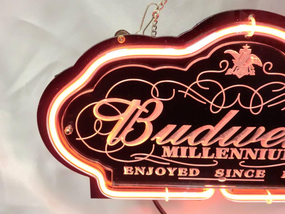 Budweiser バドワイザー ネオン ネオンサイン 照明 電飾 看板 ライト 壁かけ [U]_画像3