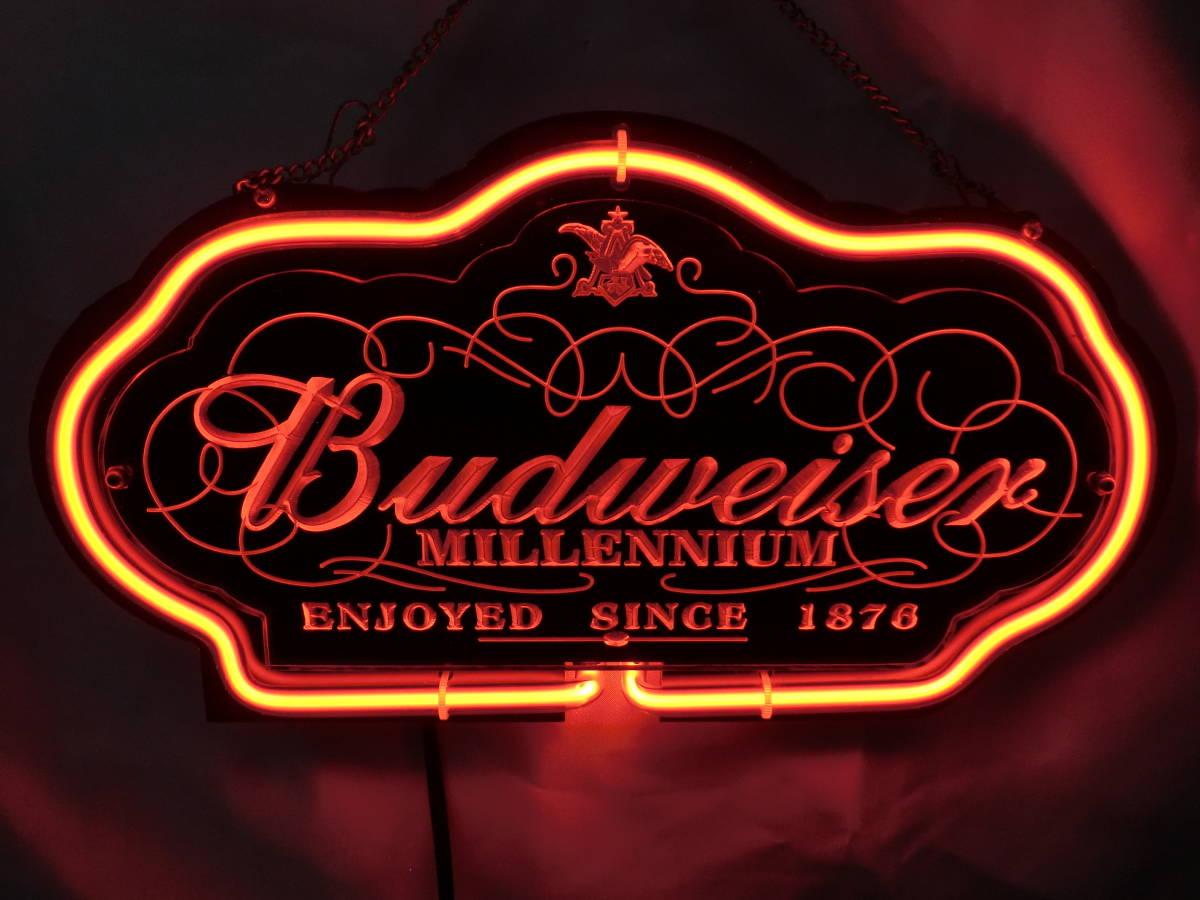 Budweiser バドワイザー ネオン ネオンサイン 照明 電飾 看板 ライト 壁かけ [U]
