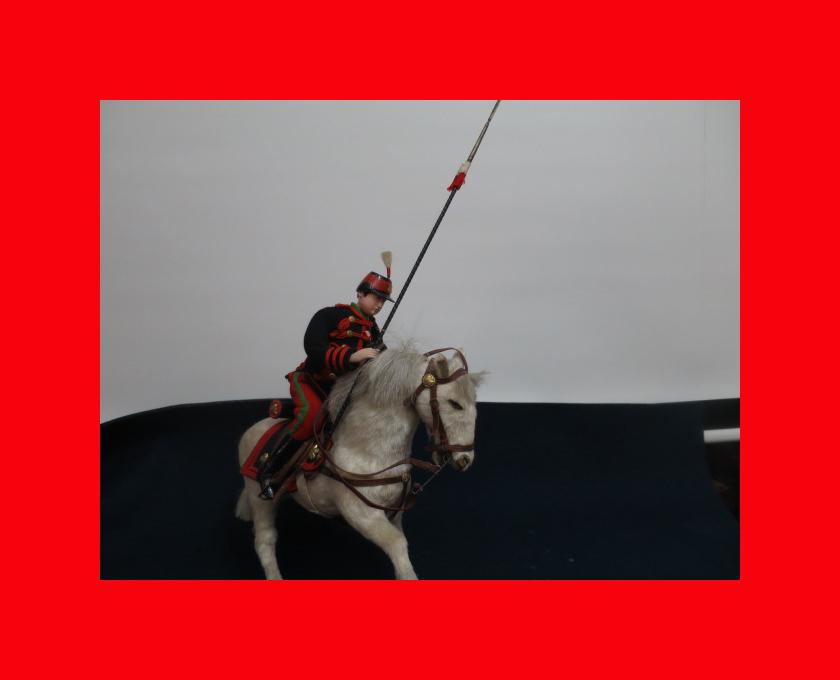 【人形館】「丸平乗馬近衛兵B-161」五月人形・大木平蔵.武者人形・大将飾り.蒔絵〝五〟_状態いいです。