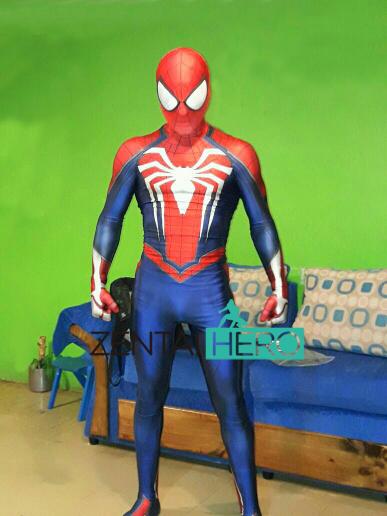 ★新品★♪スパイダーマン PS4  Spiderman スパイダーマン コンプレcosplay衣装 マーベル サイズ豊富