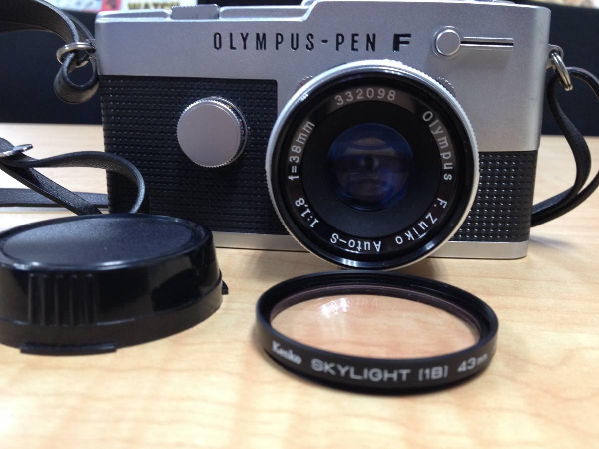 23150 OLYMPUS/オリンパス PEN F + F.zuiko Auto-S 1:1.8 F=38㎜ レンズ 詳細は写真と説明文をご覧ください。_画像2