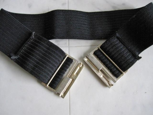 お洒落 ラバーベルト パーティー ベルト 黒 ドレス 幅5cm しっかり太め ドレス ベルト ゴールド バックル ブラック 伸縮性あり レア 特 得_画像5
